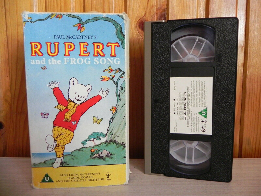 Rupert and the Frog Song - Cartoon - Paul McCartney/Linda McCartney - Carton VHS