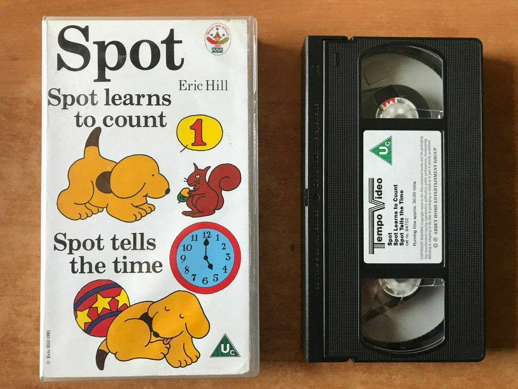 Spot; [Eric Hill]: Spot Learns To Count - Pre-school - Educational - Kids - VHS