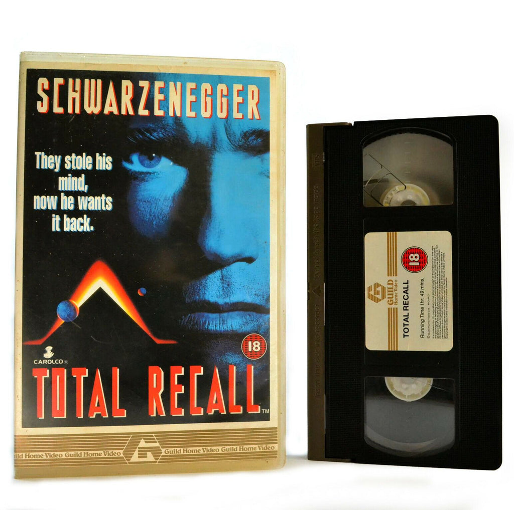Total Recall: Based On P.K.Dick Short Story - Sci-Fi (1990) - Large Box - VHS