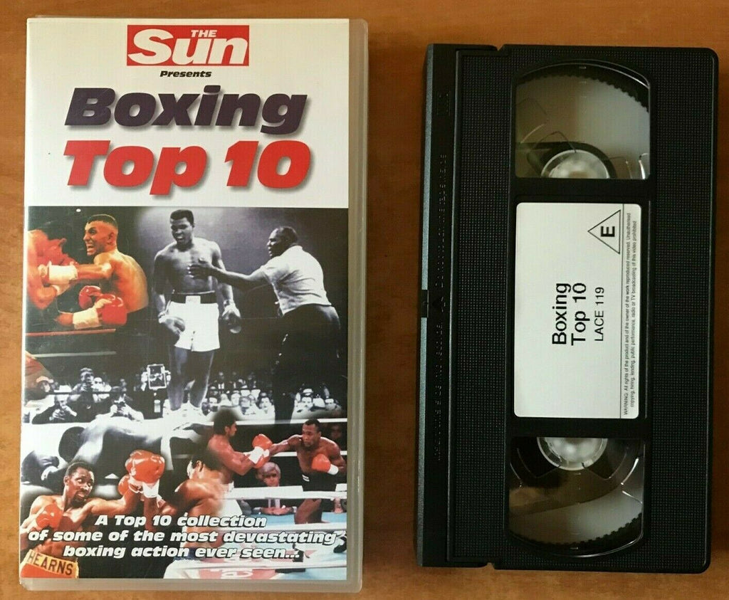 Boxing Top 10 (The Sun): Mike Tyson - Jack Dempsey - Muhammad Ali - Pal VHS