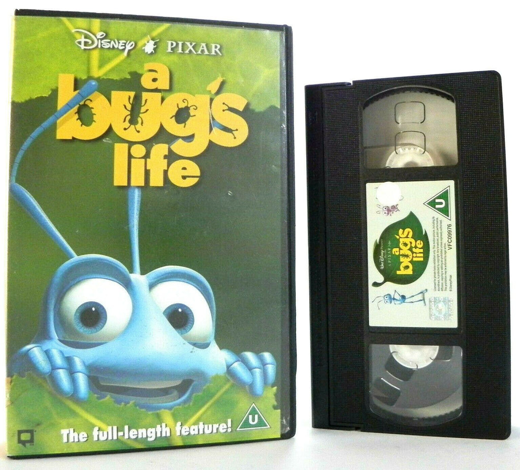A Bug's Life, Animated, Box, Children's & Family, Large, Life, PAL, VHS, Walt Disney, Walt Disney Studios
