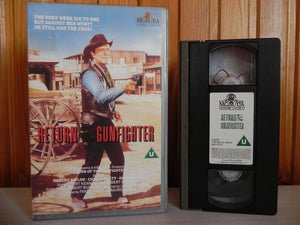 Return Of The Gunfighter - Robert Taylor, Chad Everett - Large Box Western - Pal VHS