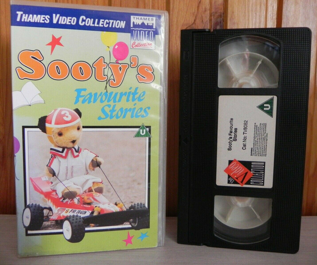 Sooty's Favourite Stories - 3 Of Sooty's Fav Stories - Thames - Kids Video - Vhs