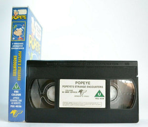 Popeye: Popeye's Strange Encounters - Animated Adventures - Children's - Pal VHS