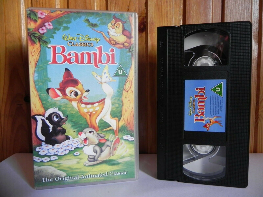 Bambi - Walt Disney Classics - Animated - Adventures - Children's - Pal VHS