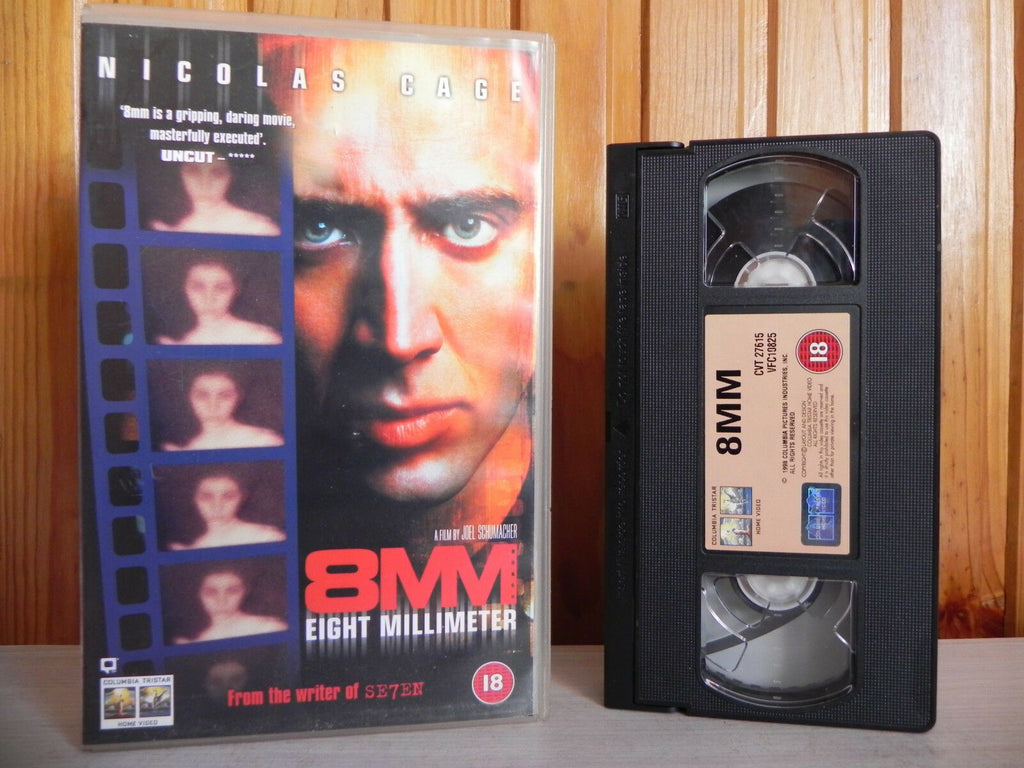8MM, Action, Action & Adventure, Bauer, Cage, Chris, Columbia, Deleted Title, Eight, Millimeter, Nicolas, Nicolas Cage, PAL, Thriller, VHS
