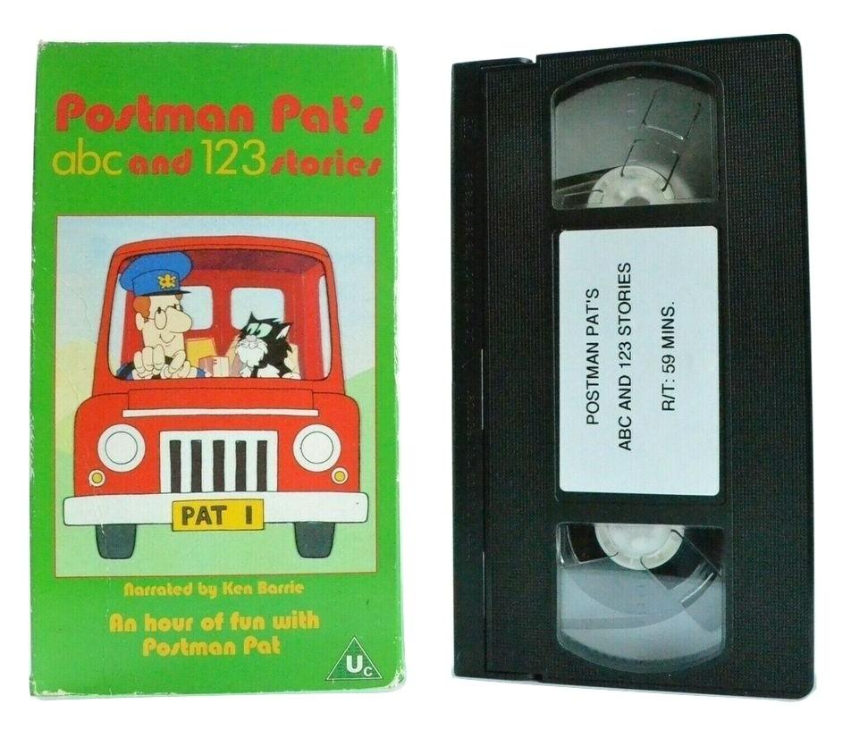 Postman Pat: ABC And 1,2,3 Stories: Narrated Ken Barrie - Educational - Pal VHS