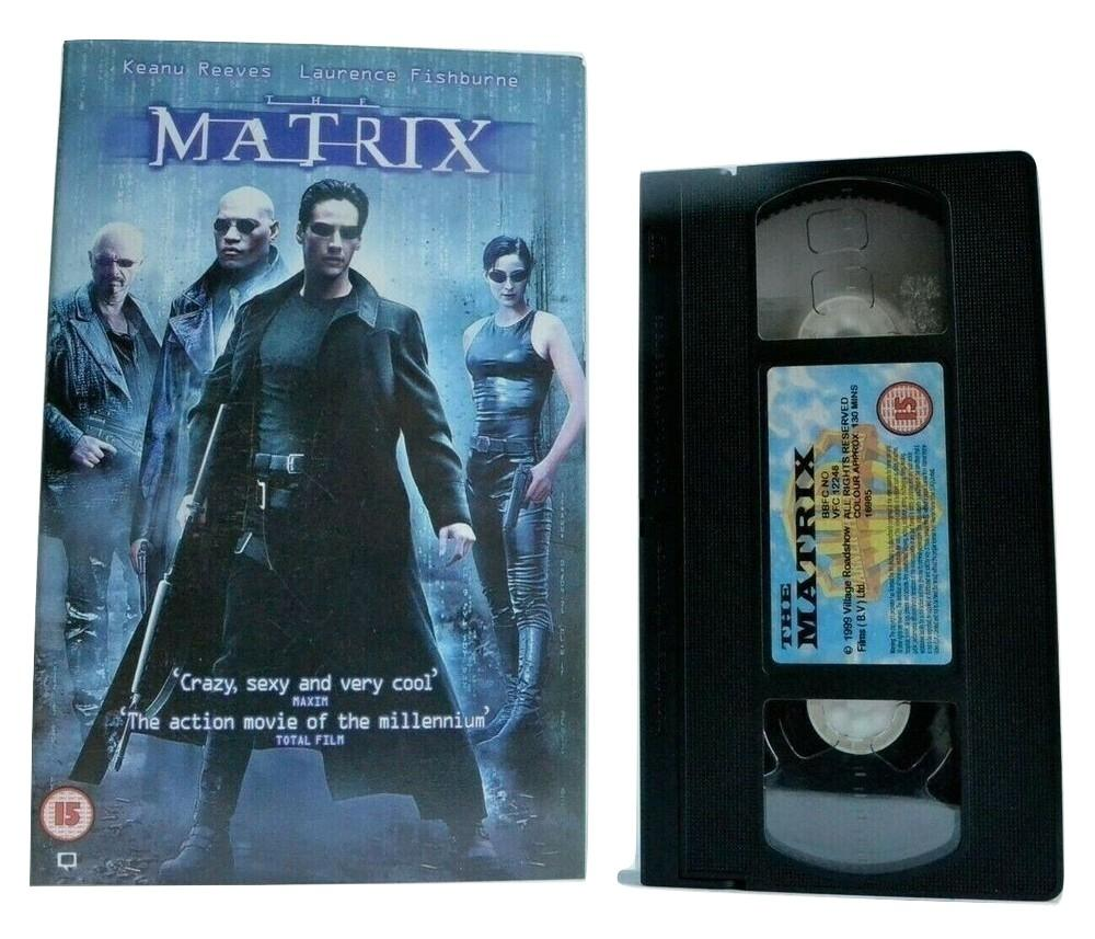 The Matrix (1999) - Sci-Fi Action - Large Box - K.Reeves/L.Fishburne - Pal VHS