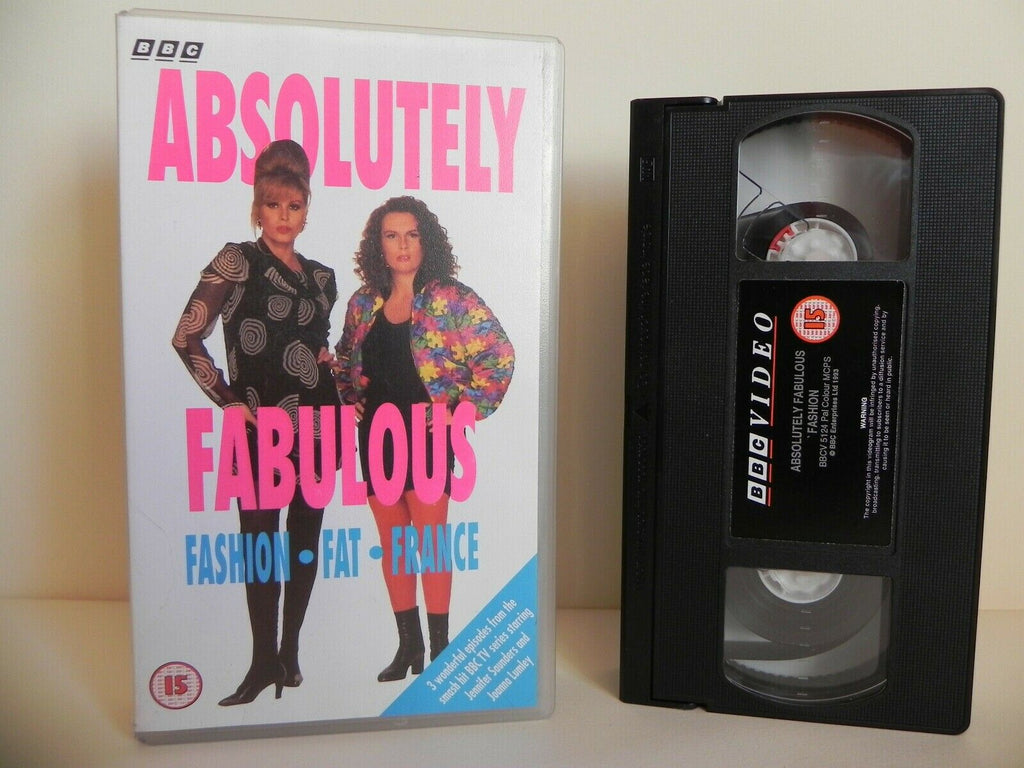 Absolutely Fabulous - BBC - Three Episodes - Fashion - Fat - France - Pal VHS