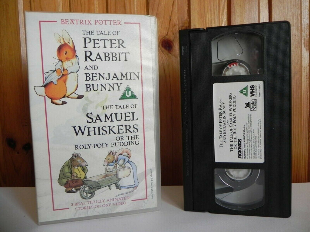 The Tale Of Peter Rabbit And Benjamin Bunny - Animated - Adventutes - Pal VHS