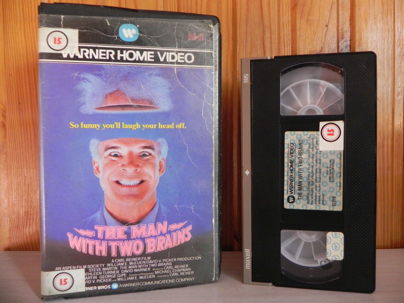 The Man With Two Brains - Big Box - Comedy - Steve Martin - Pre-Cert Video - VHS