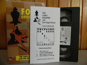 Chess, Davis, Educational, Foxy, GM, Latest, Nigel, No, Openings, PAL, The, Theory, VHS, With