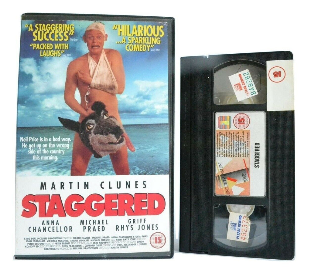 Staggered (1994): Film By M.Clunes - British Romantic Comedy - Large Box - VHS