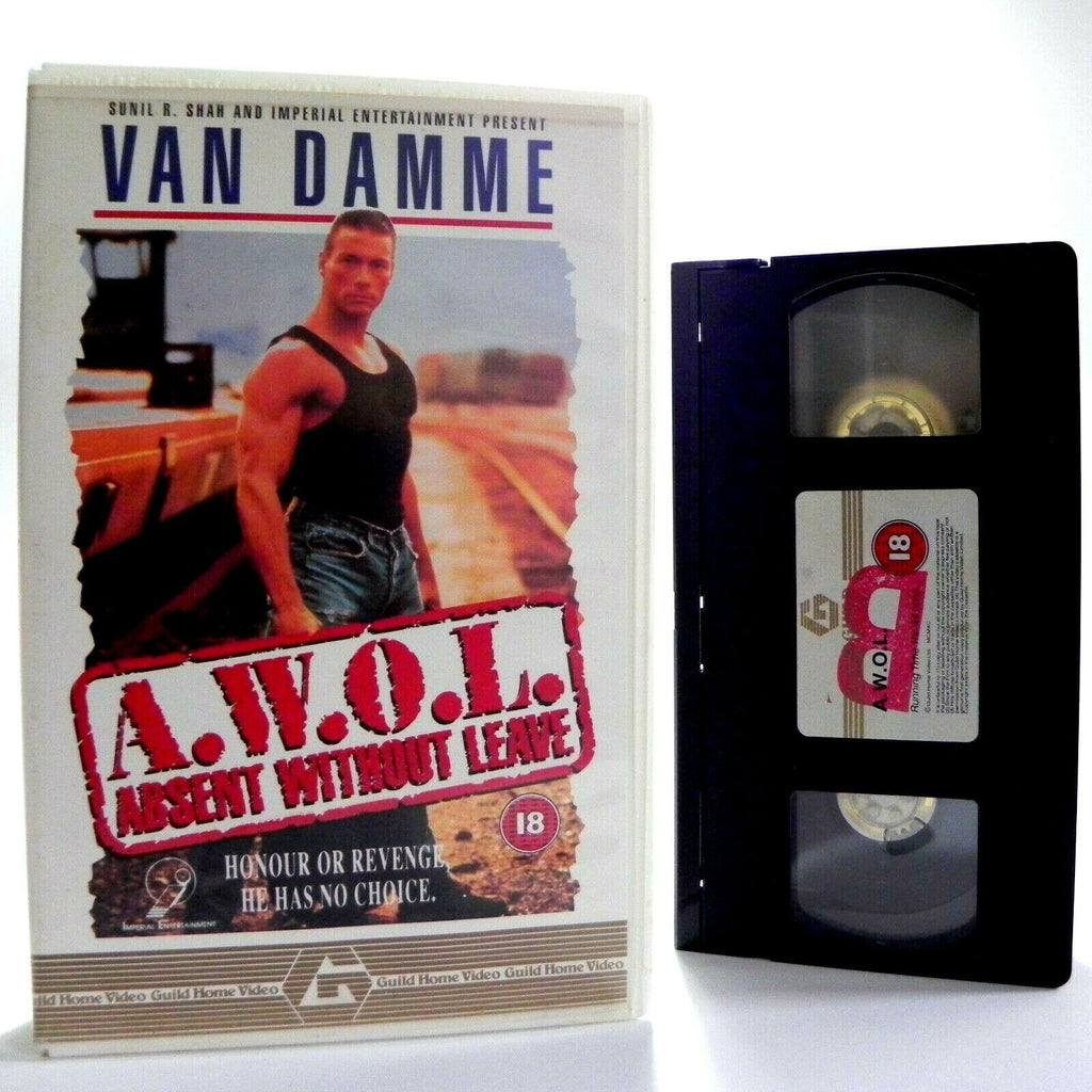 Absent, Action, Action & Adventure, Box, Damme, Large, Leave, Pal, Van Damme, VHS, Without