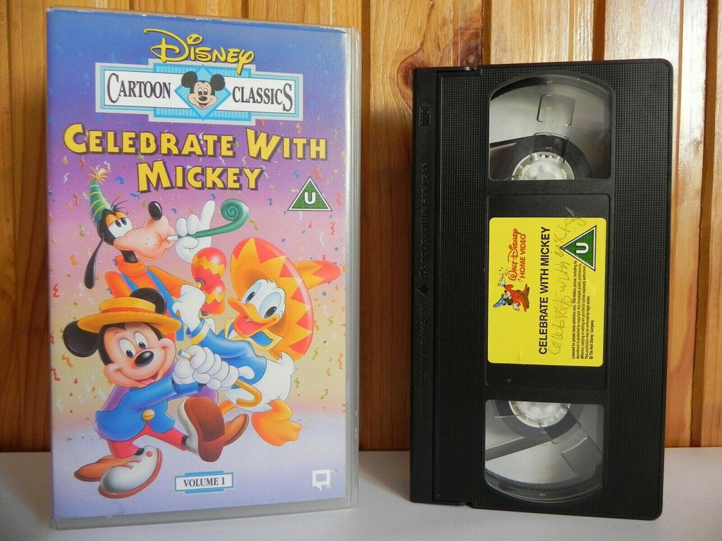 Celebrate With Mickey: Volume 1 - Disney Classic - Adventure - Fun - Kids - VHS