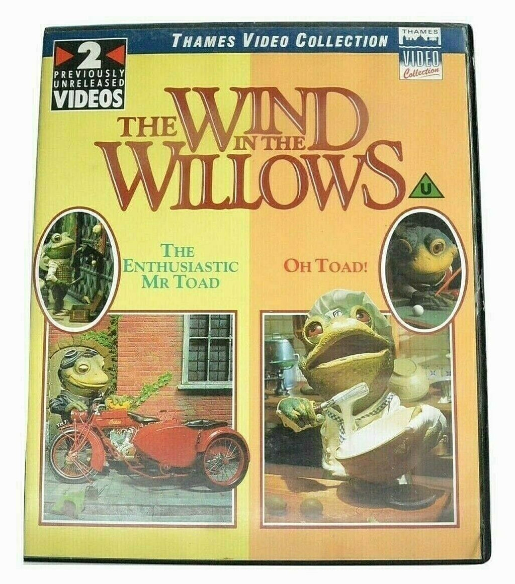 Wind In The Willows: 2x - Enthusiastic Mr. Toad / Oh Toad - Video Collection VHS