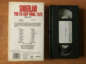 Sunderland: The FA Cup Final 1973; [Bobby Charlton] Football - Sports - Pal VHS