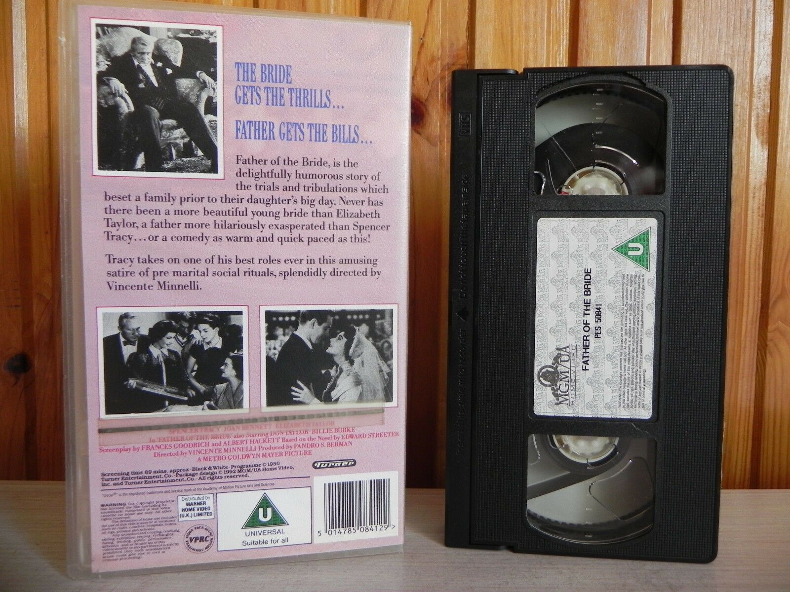 THE ORIGINAL - Father Of The Bride -MGM- Spencer Tracy - Elizabeth Taylor - VHS