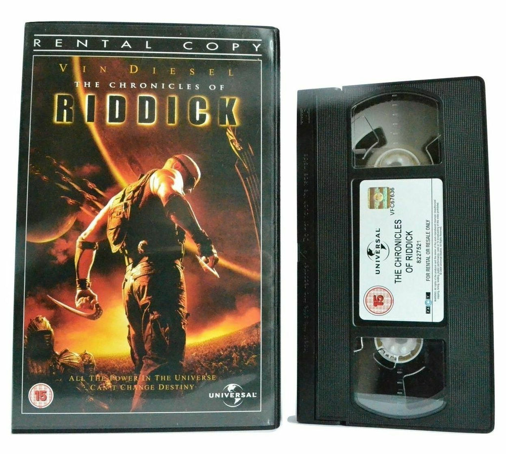 The Chronicles Of Riddick: Sci-Fi (2004) - Large Box - Vin Diesel/J.Dench - VHS