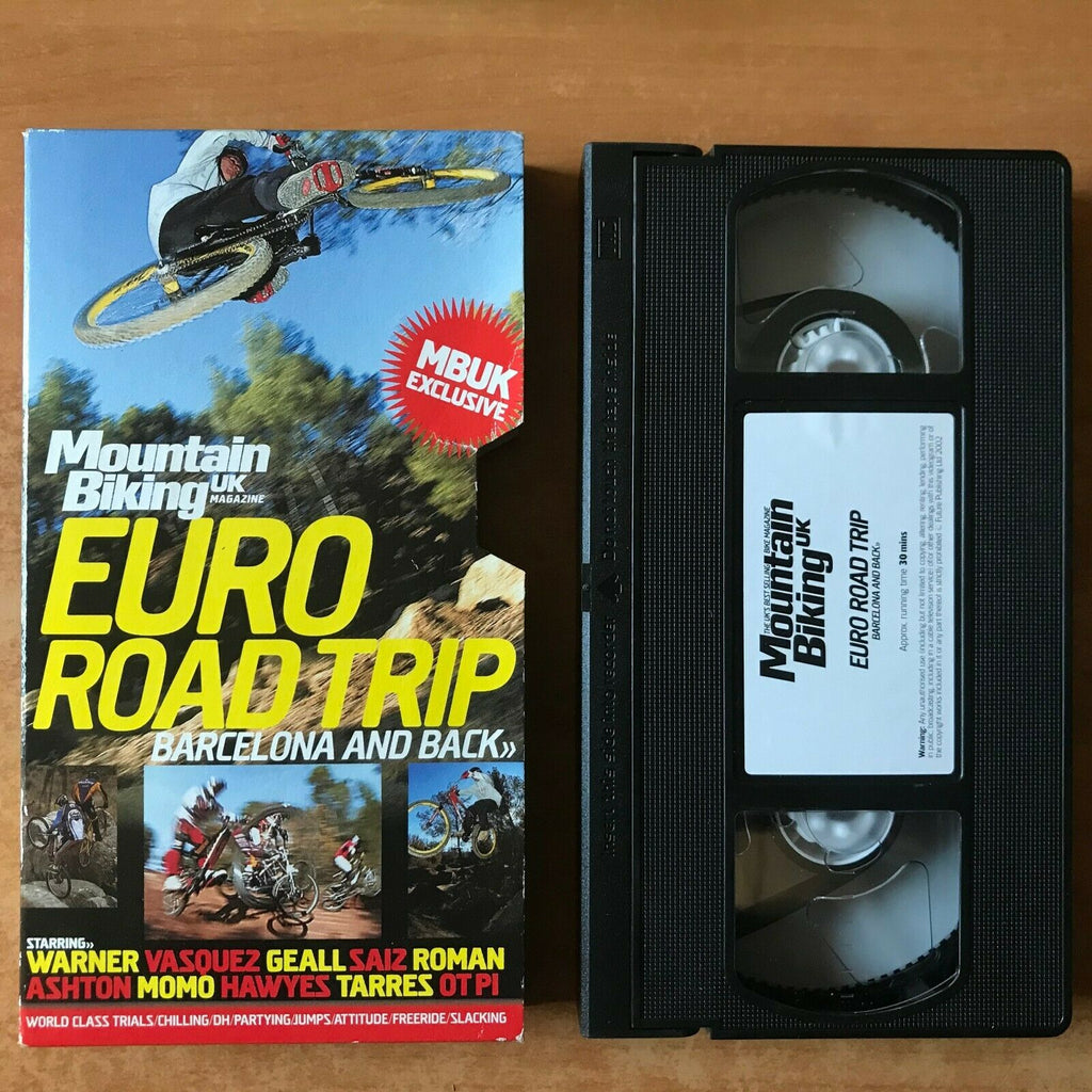 Mountain Biking: Euro Road Trip; [UK Magazine] Carton Box - Barcelona - Pal VHS
