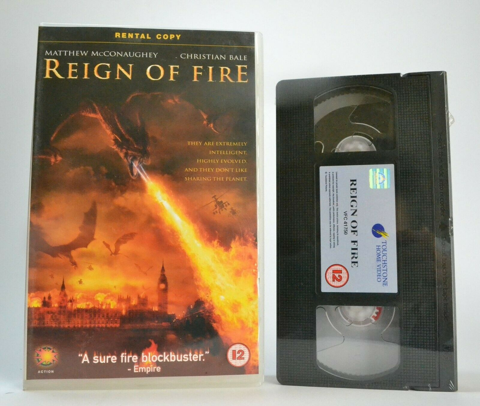 Reign Of Fire: Brand New Sealed - Fantasy - Large Box - Christian Bale - Pal VHS