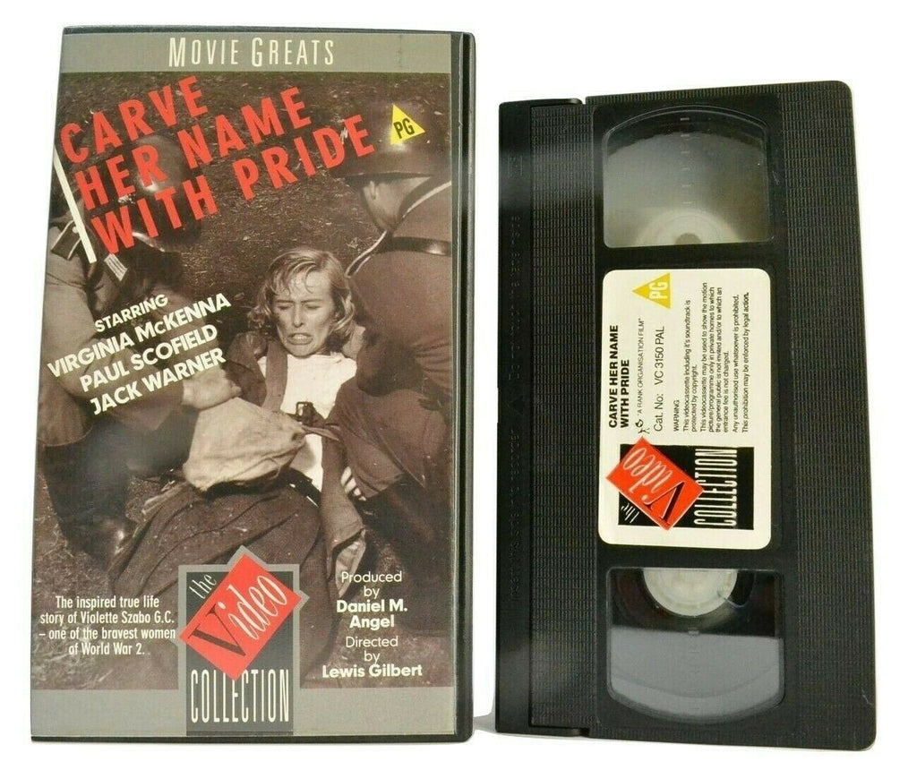 Carve Her Name With Pride (1958): Biographical Drama - Virginia McKenna - VHS