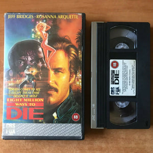 Eight Million Ways To Die; [Andy Garcia 1st Lead Role] Action - Large Box - VHS
