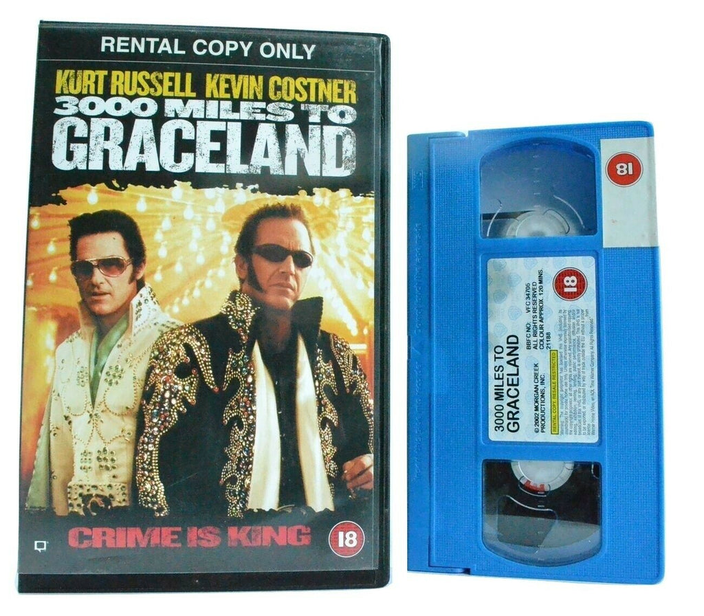3000 Miles To Graceland: K.Russell/K.Costner - Action (2001) - Large Box - VHS