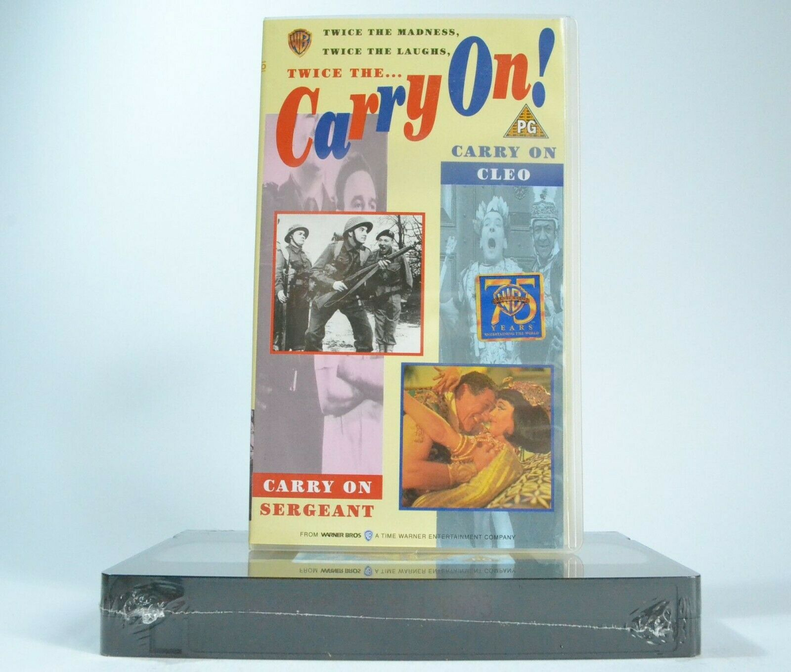2x Carry On: Sergeant / Cleo [Brand New Sealed] - Comedy - Joan Sims - Pal VHS