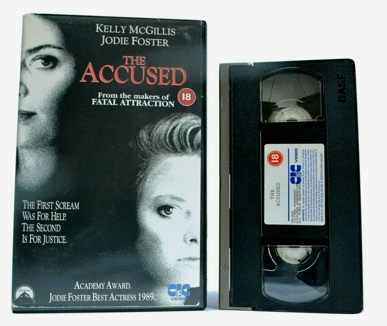 The Accused - Court Thriller - Large Box - Kelly McGillis/Jodie Foster - Pal VHS