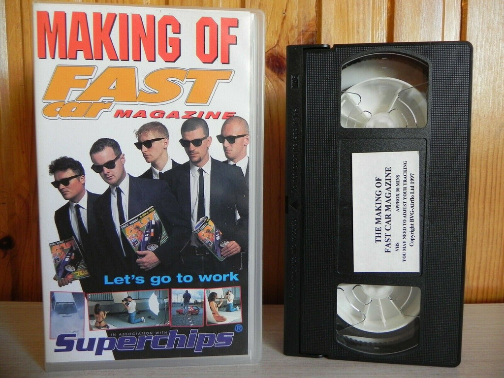 Making Of - Fast Car - Magazine - Let's Go To Work - Behind The Scenes - Pal VHS