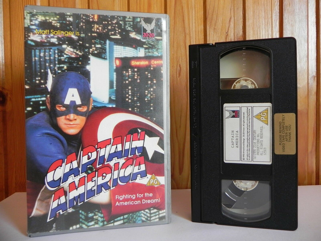 Captain America - 20 20 Vision - Action - Ex-Rental - Matt Salinger - Pal VHS