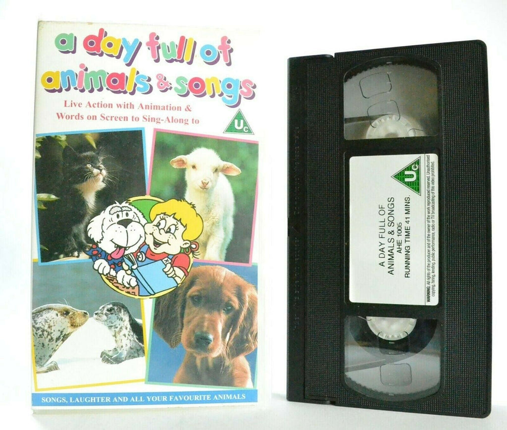 A Day Full Of Animals And Songs - Singalong - Educational - Children's - Pal VHS