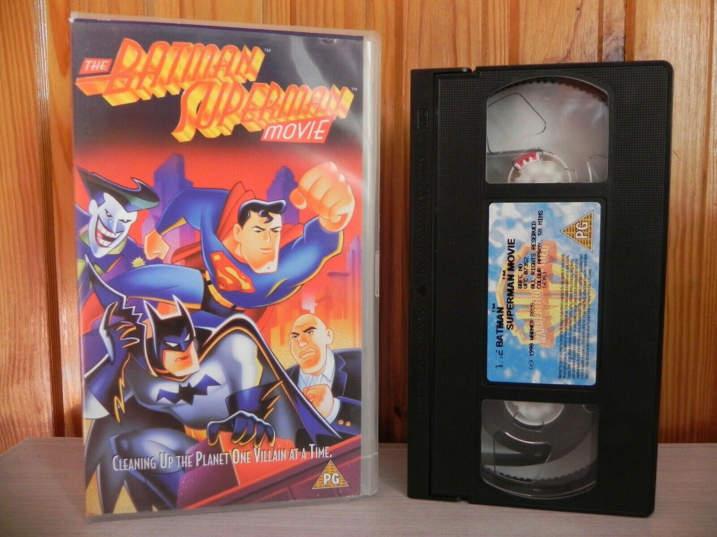 The Batman & Superman Movie - Cartoon Edition - Children's Video - 58 Mins - VHS