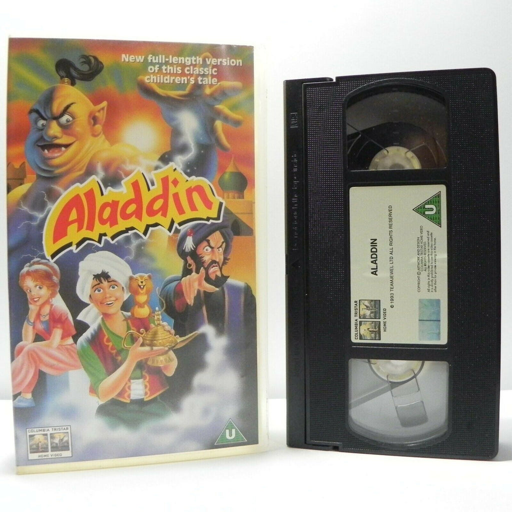 1993, Aladdin, Animated, Children's & Family, Classic, Magical, New, PAL, Story, Tale, U, United Kingdom, Version, VHS