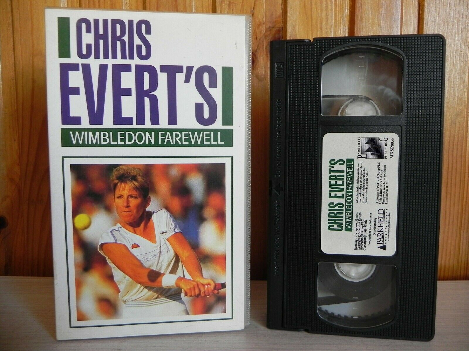 Chris, Farewell, Herself, Interviews, No, PAL, Player, Sports, Tennis, The, United Kingdom, VHS, Wimbledon, With