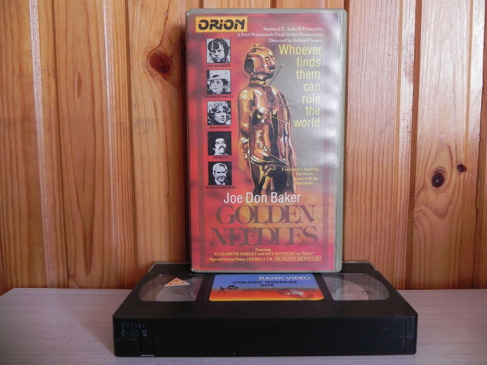 1972, Action, Action & Adventure, Golden Needles, Jim Kelly, Kelly, PAL, Pre Cert, Robert Clouse, S. Lee Pogostin, United States, VHS