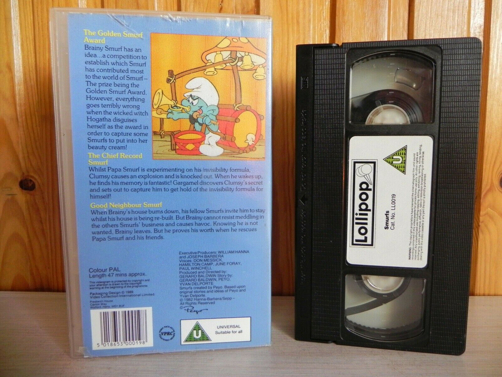 Lollipop Video: The Golden Smurf Award - Animated Children's (80's Retro) - Pal VHS