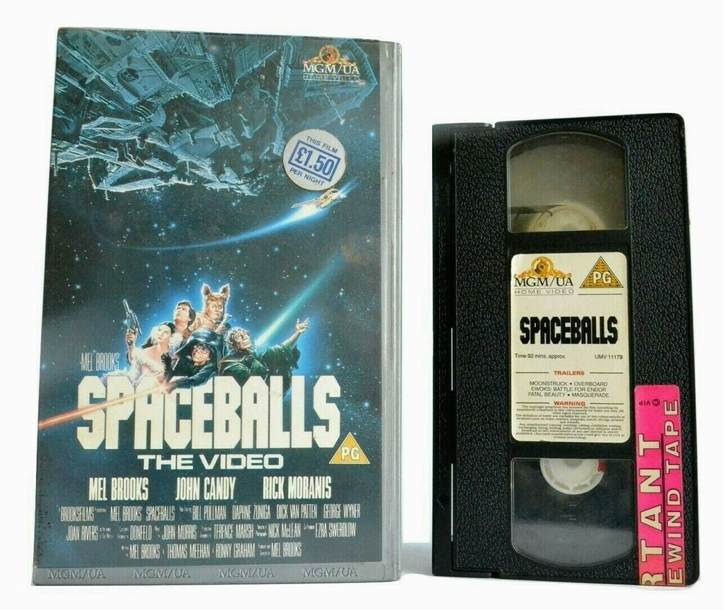 "Spaceballs (1987): Film By Mel Brooks - ""Star Wars"" Parody - John Candy - VHS"