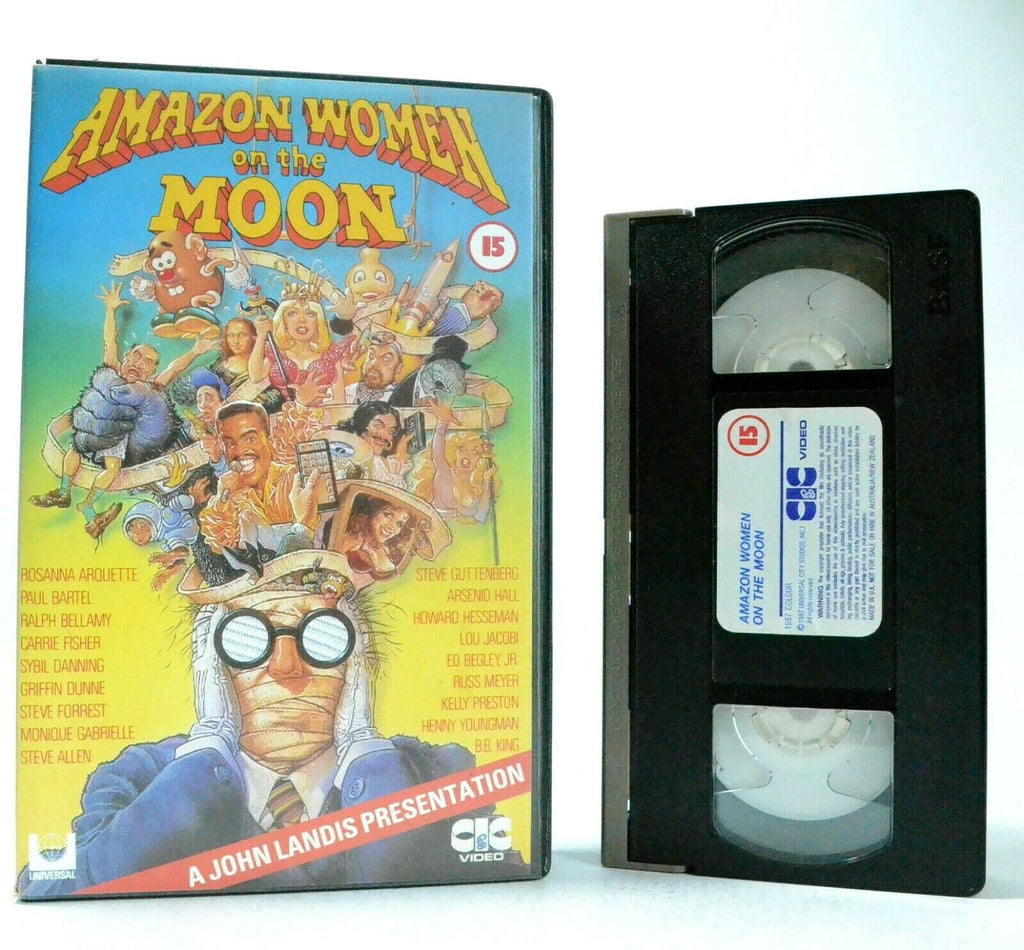 Amazon Women On The Moon: 21 Comedy Skits (1987) Ensemble Cast - Large Box - VHS