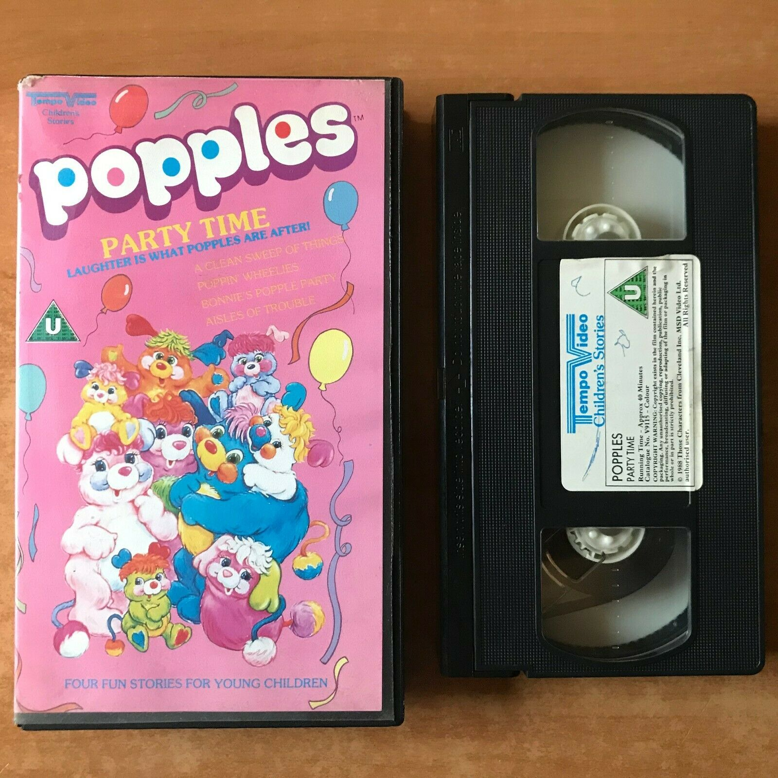Popples Party Time [Tempo Video]: Poppin' Wheelies - Animated - Children's - VHS