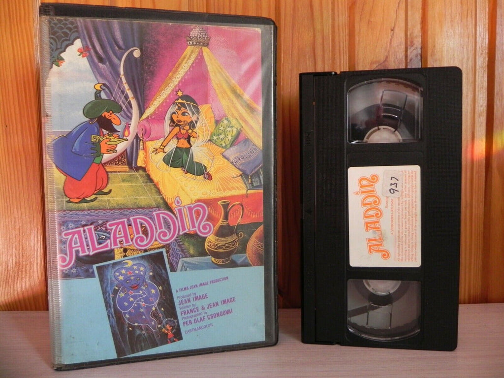 1994, Aladdin, Animated, Big, Box, Children's & Family, Media, Pal, Robin Williams, U, United Kingdom, VHS, Video, Wonderful