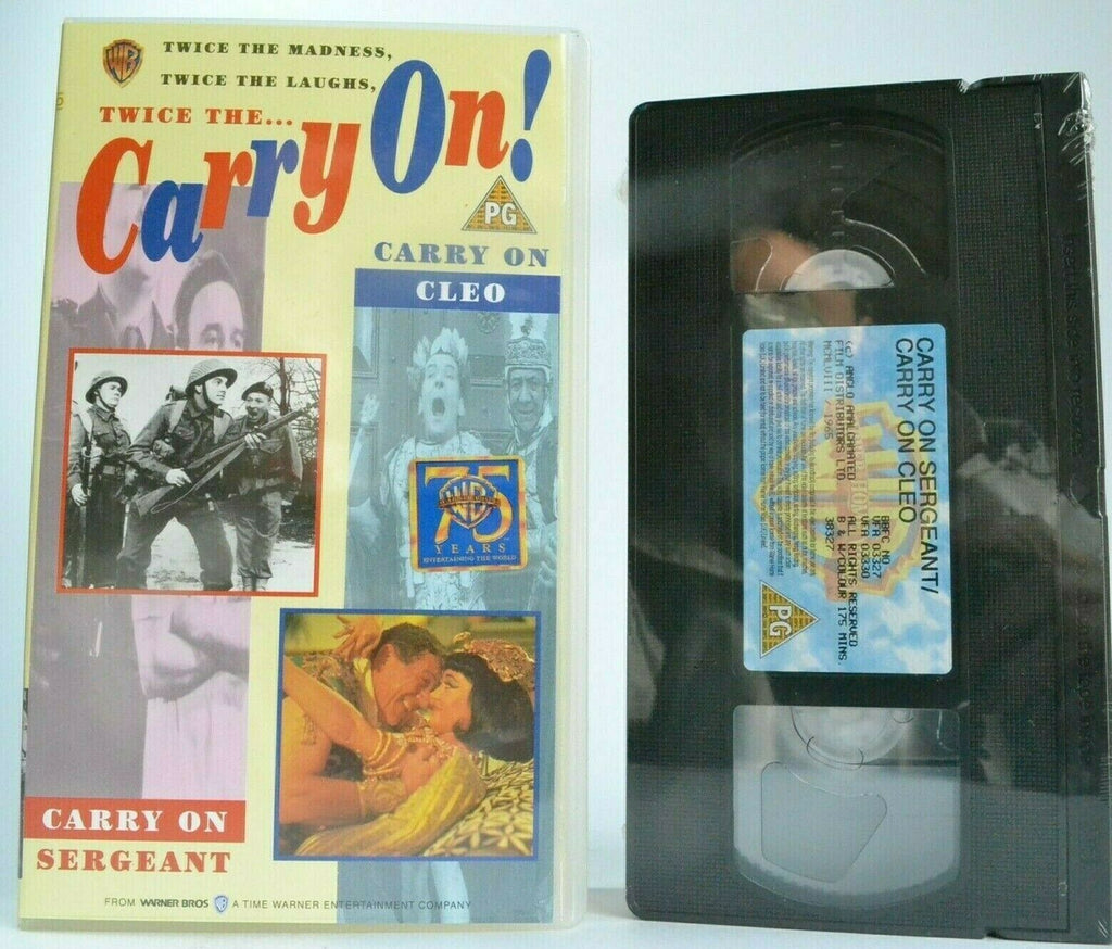 2x, Carry, Carry On, Cleo, Comedy, Joan, New, Pal, Sergeant, Sims, VHS