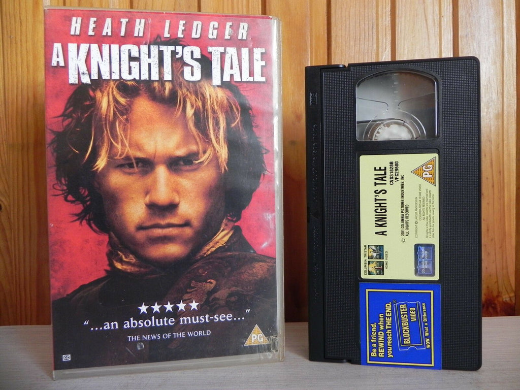 A Knight's Tale - Columbia - Comedy/Adventure - Heath Ledger Post Batman - VHS