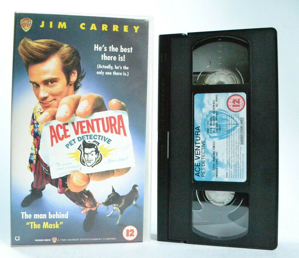 Ace Ventura: Pet Detective - (1994) Comedy - Jim Carrey/Sean Young - Pal VHS
