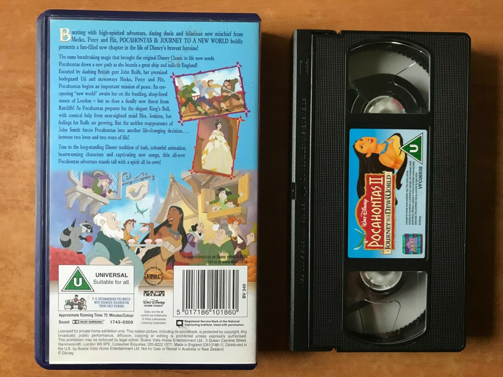 Pocahontas 2: Journey To A New World [Walt Disney] Animated - Children's - VHS