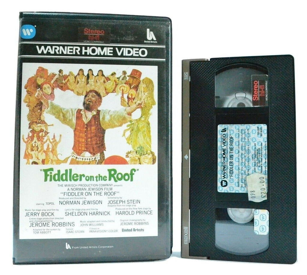 Fiddler On The Roof: Classic Musical (1971) - Large Box - Topol/N.Jewison - VHS