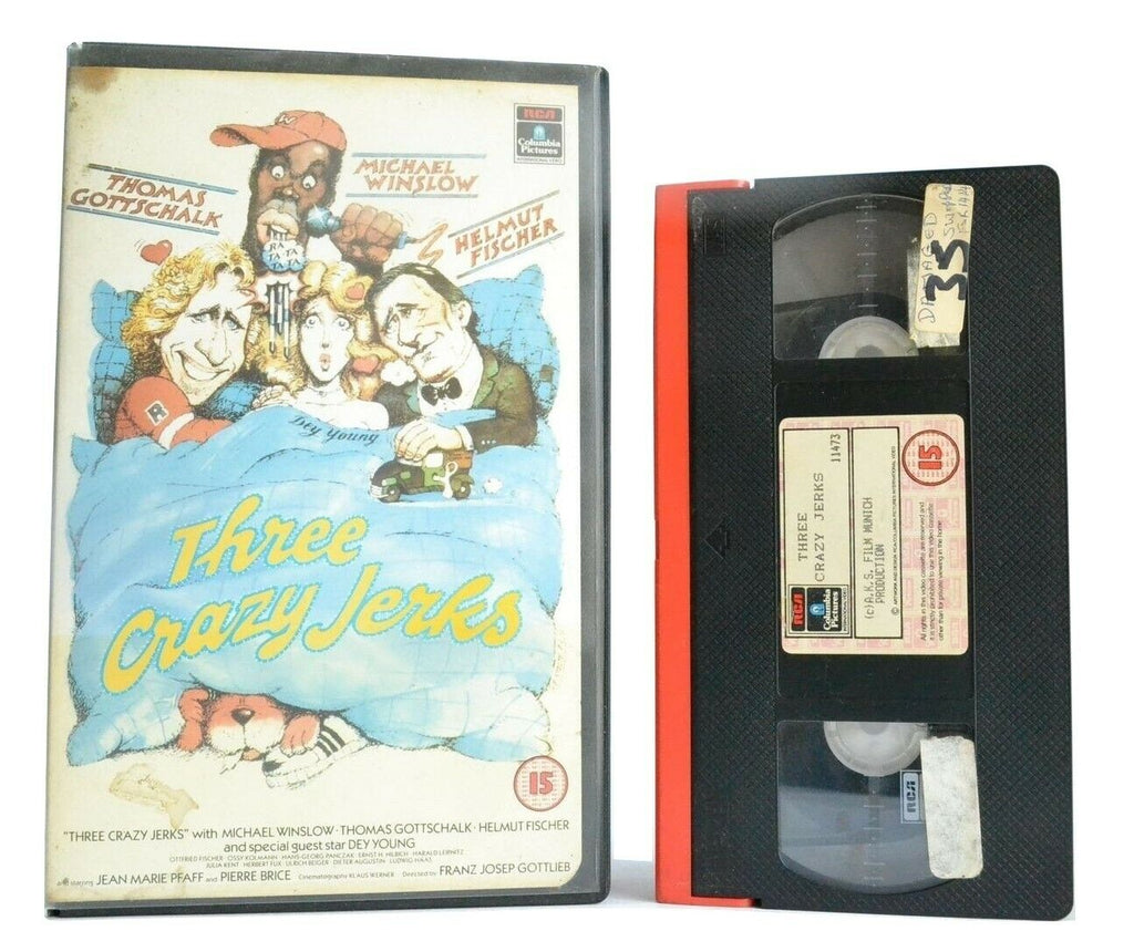 Three Crazy Jerks (1988): Comedy - Large Box - M.Winslow/T.Gottschalk - Pal VHS