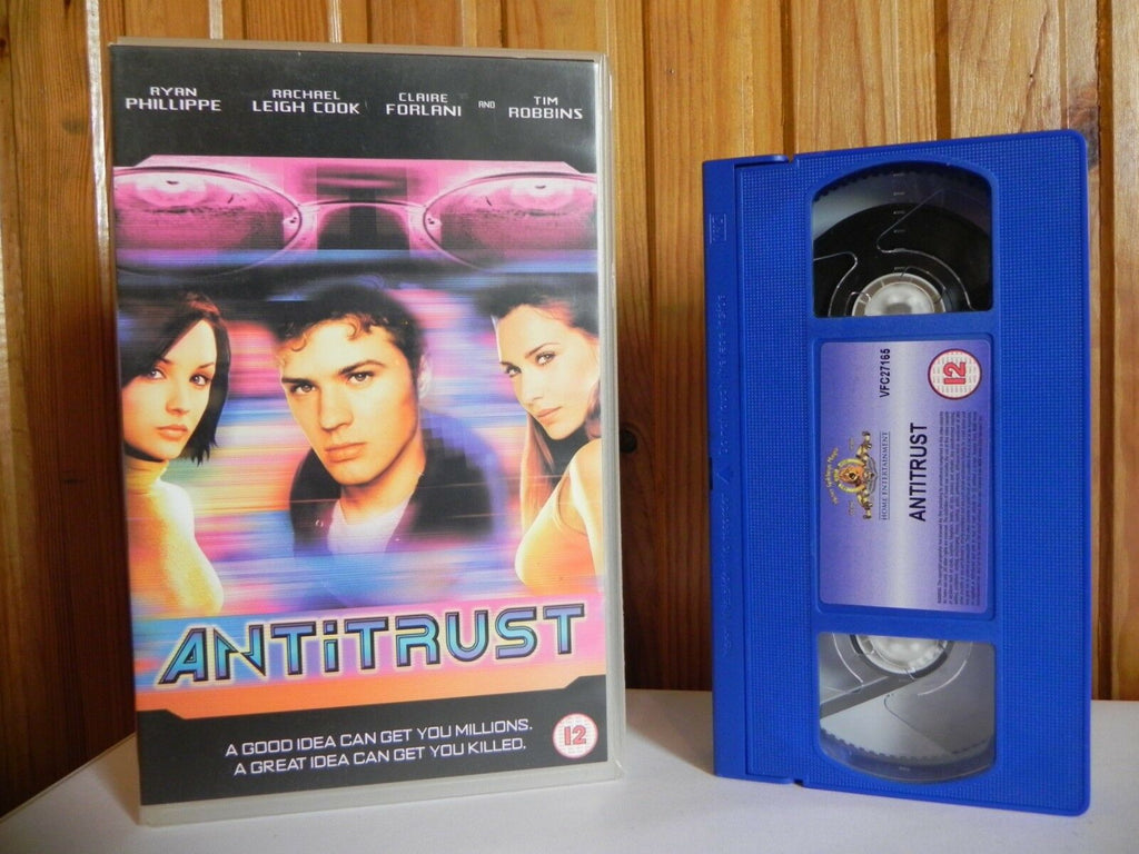 Antitrust, Big, Box, PAL, Phillippe, Robbins, Ryan, Thriller, Thriller & Mystery, Tim, VHS