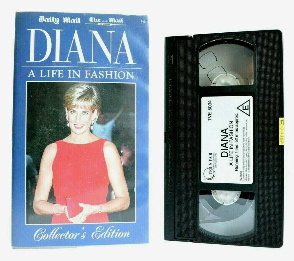 Diana: A Life In Fashion - Documentary - Interviews - Princess Of Wales - VHS